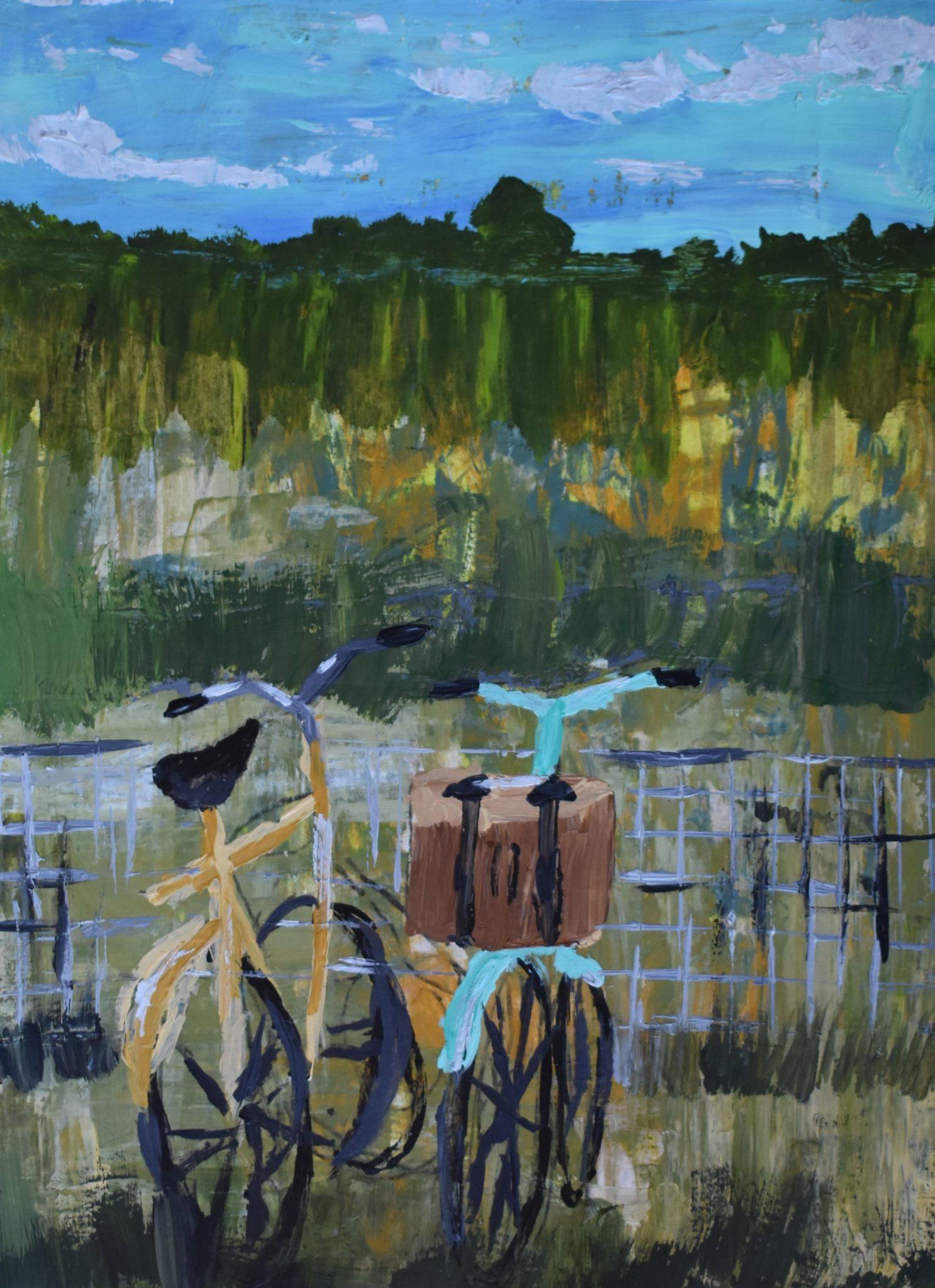 AdamD A Ride Through the Meadow 9×12 acrylic $45 2-19